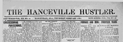 Hanceville Hustler newspaper archives