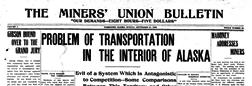 Fairbanks Miners Union Bulletin newspaper archives