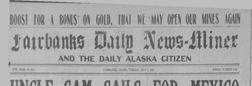 Fairbanks Weekly News Miner And Daily Citizen newspaper archives