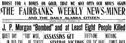 Fairbanks Weekly News Miner newspaper archives