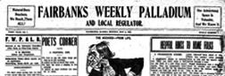 Fairbanks Weekly Palladium And Local Regulator newspaper archives