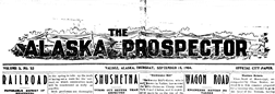 Valdez Alaska Prospector newspaper archives