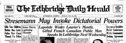 Lethbridge Daily Herald newspaper archives