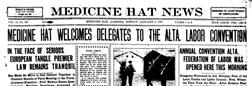 Medicine Hat News newspaper archives