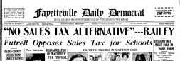 Fayetteville Daily Democrat newspaper archives