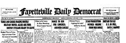 Fayetteville Democrat newspaper archives