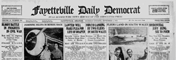 Fayetteville Northwest Arkansas Times newspaper archives