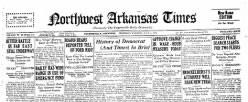 Northwest Arkansas Times newspaper archives