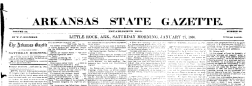 Little Rock Arkansas State Gazette newspaper archives