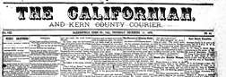 Bakersfield Californian And Kern Weekly Courier newspaper archives