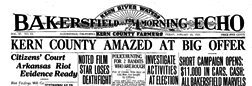 Bakersfield Morning Echo newspaper archives