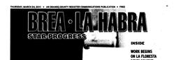 Brea La Habra Star Progress newspaper archives