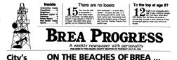 Brea Progress newspaper archives
