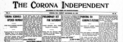 Corona Independent newspaper archives