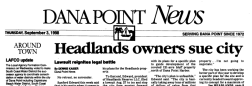 Dana Point News newspaper archives