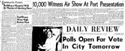 Daily Review newspaper archives