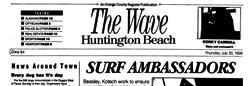 Huntington Beach Wave newspaper archives