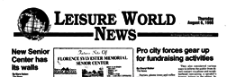 Leisure World News newspaper archives