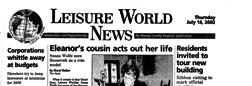 Laguna Woods Leisure World News newspaper archives