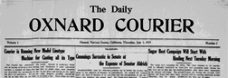 Oxnard Daily Courier newspaper archives