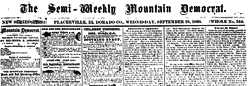 Semi Weekly Mountain Democrat newspaper archives