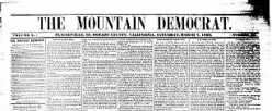 Weekly Mountain Democrat newspaper archives