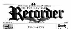 Porterville Reporter newspaper archives