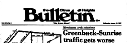 Sacramento Citrus Heights Bulletin newspaper archives