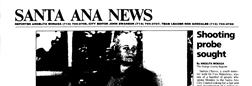 Santa Ana News newspaper archives