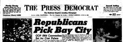 Santa Rosa Press Democrat newspaper archives