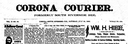 South Riverside Corona Courier newspaper archives