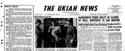 Ukiah News newspaper archives