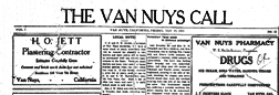 Van Nuys Call newspaper archives