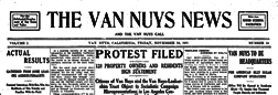 Van Nuys News And The Van Nuys Call newspaper archives