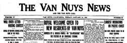 Van Nuys News And Van Nuys Call newspaper archives
