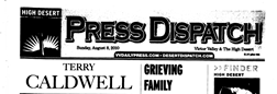Victorville Press Dispatch newspaper archives