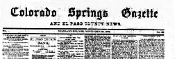 Colorado Springs Gazette newspaper archives