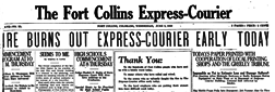 Fort Collins Express Courier newspaper archives