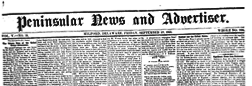Peninsular News And Advertiser newspaper archives