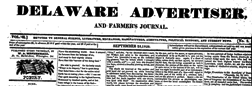 Delaware Advertiser And Farmers Journal newspaper archives