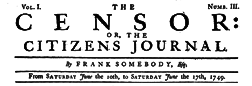 Censor Or The Citizens Journal newspaper archives