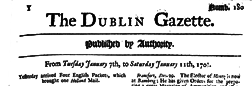 Dublin Gazette newspaper archives