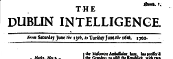 Dublin Intelligence newspaper archives