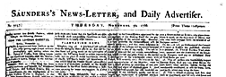 Saunders News Letter And Daily Advertiser newspaper archives