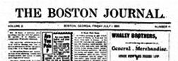 Georgia Boston Journal newspaper archives