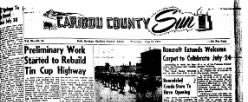 Caribou County Sun newspaper archives
