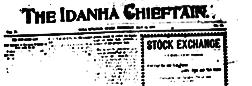 Soda Springs Idanha Chieftain newspaper archives