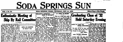 Soda Springs Sun newspaper archives