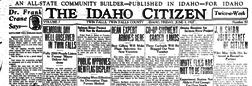 Idaho Citizen newspaper archives