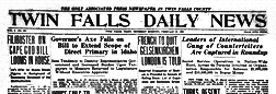 Twin Falls Daily News newspaper archives